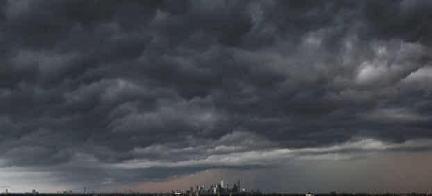 severe thunderstorm over houston