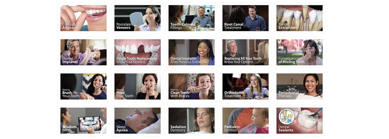 Dental website with videos